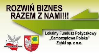 """Nowe możliwości z Lokalnym Funduszem Pożyczkowym """"Samorządowa Polska"""" Ząbki sp. zoo"""